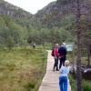The walk to the Pulpit Rock